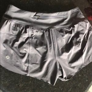 Gray Lululemon shorts